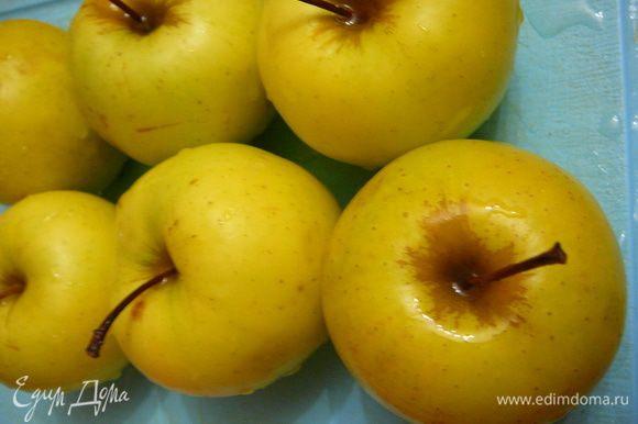 Яблоки для начинки№1,очистить от кожуры и семян.