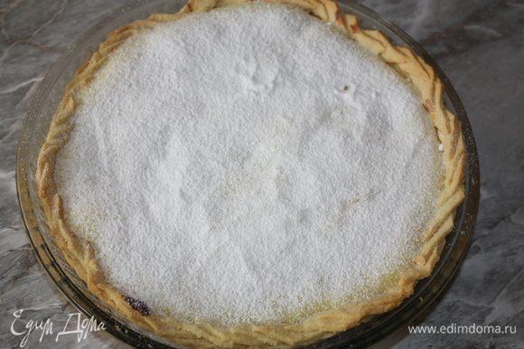 Отправить обратно в духовку еще на 30 минут. Готовый тарт присыпать сахарной пудрой и дать остыть Приятного аппетита!