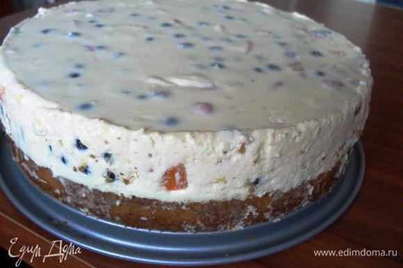 Пирог хорошо остыл и получился вот такой.