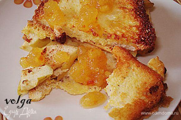 Дайте немного остыть и можно есть. Мы любим с апельсиновым джемом.