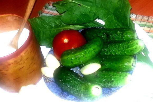 Выкладываем их на тарелочку,а в пакет можно легко загрузить вторую партию пупырчатых овощей-только соли добавить!