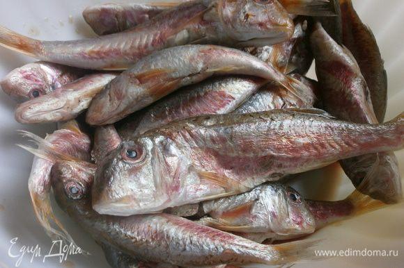 Подготовить рыбу - почистить снаружи и внутри.