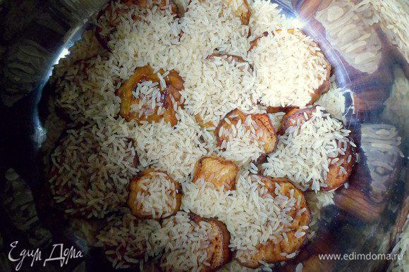 присыпаем рисом