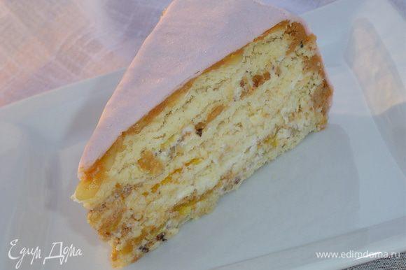 """Торт """"Зимние мечты"""" очень нежный и вкусный, попробуйте!"""
