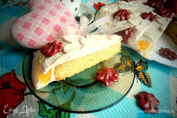 Как видите, интрига удалась и все увидели спрятавшийся бисквит))) Очень вкусно, поверьте!