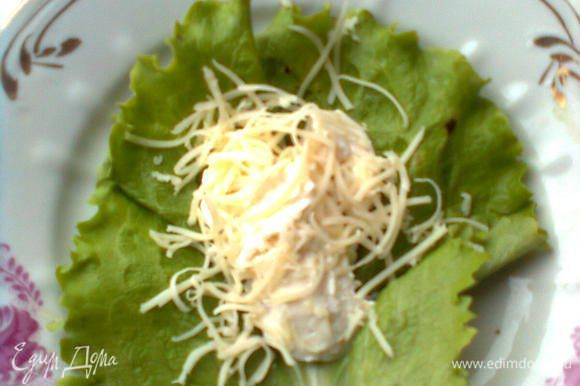 Крем-сыр с грибами и тертым твердым сыром
