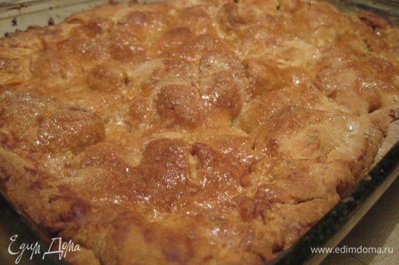Пирог должен подрумяться!!! Он получается невероятным!!! И самое интересное, что очень вкусное тесто!! Очень советую всем-всем-всем!!!