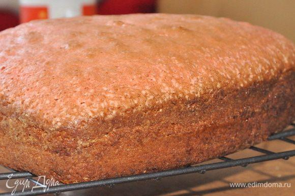 Яйца хорошо взбить с сахаром, добавить остальные ингредиенты и тщательно перемешать. В конце добавить краситель и перемешать. Форму для торта смазать сливочным маслом и присыпать мукой. Вылить тесто в форму и выпекать при 180С около 30 минут.