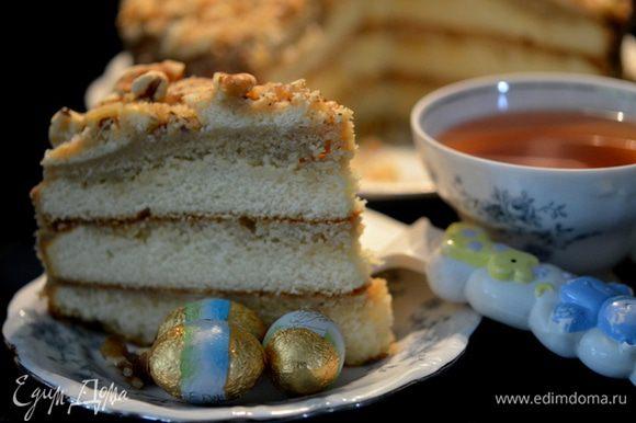 Нарежем на порции и подаем к чаю. Приятного аппетита.