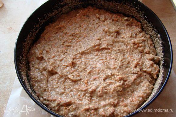 """Выливаем тесто в форму. Запекать 40-50 мин при температуре 175""""С."""
