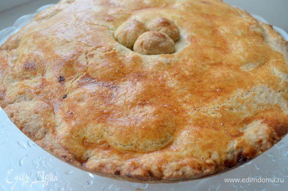 выпекать 40 минут при 180 гр. Готовый пирог остудить и дать постоять всю ночь - тогда он будет еще вкуснее!