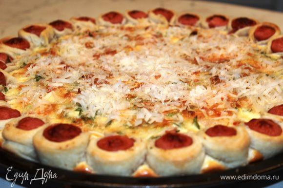 Хрустящая снаружи и сочная внутри, ароматная и вкусная, нарядная и красивая пицца для Вас!!! Приятного аппетита!!!