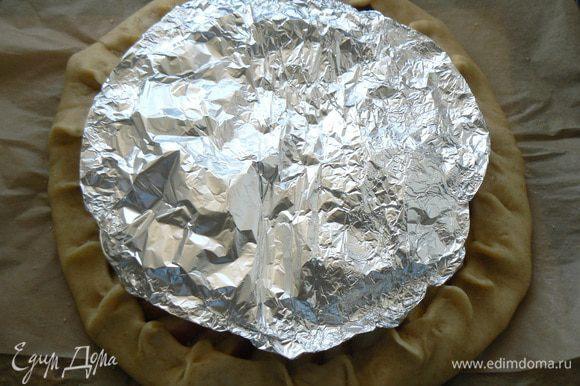 закрыть центр фольгой,отправить в духовку мин на 25-30 при190 гр., затем снять фольгу и еще минут 10 зарумянить
