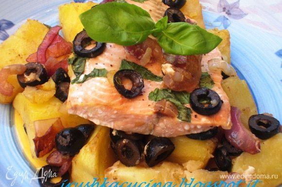 Великолепная рыбка от Оленьки (Мурзик) http://www.edimdoma.ru/retsepty/55143-zapechennyy-losos-s-kartofelem-olivkami-i-bazilikom и ещё много чего.. но это в следующий раз!! Девочки, спасибо огромное за рецепты!!!!! Всем рекомендую!!