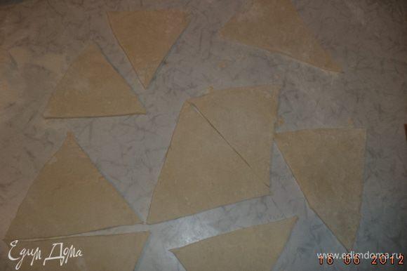 Разрезать пласт на треугольники.
