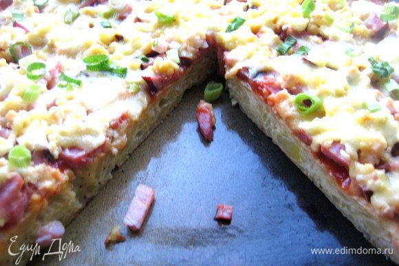 Пицца режется отлично, не разваливается и вкусна даже в холодном виде!!!