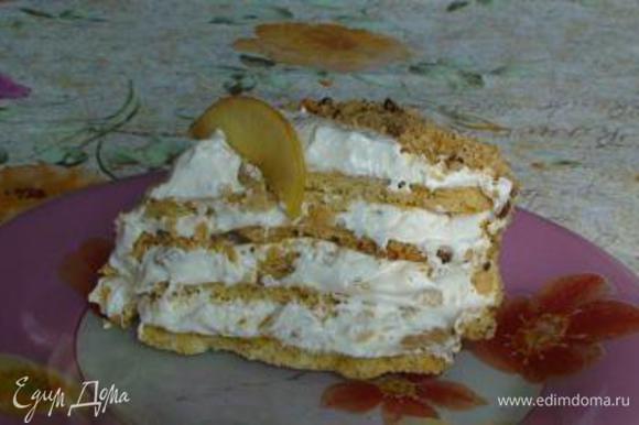 А вот и кусочек! Ах! Люблю много крема в тортике! А вы?
