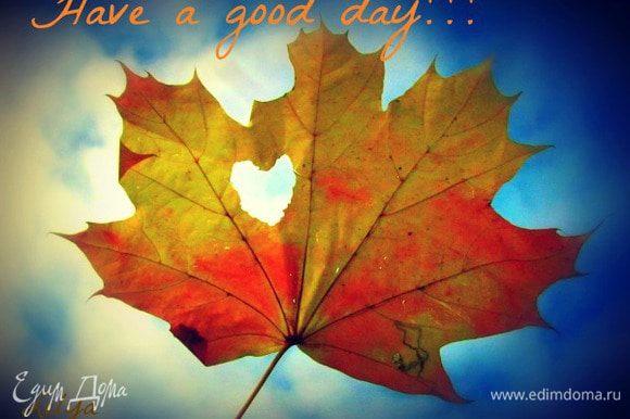 Отличного ВСЕМ дня!!!!!!!!!!!!!!! несмотря ни на что)))