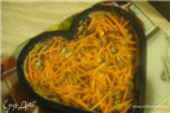 Следующий слой морковки (для красоты).