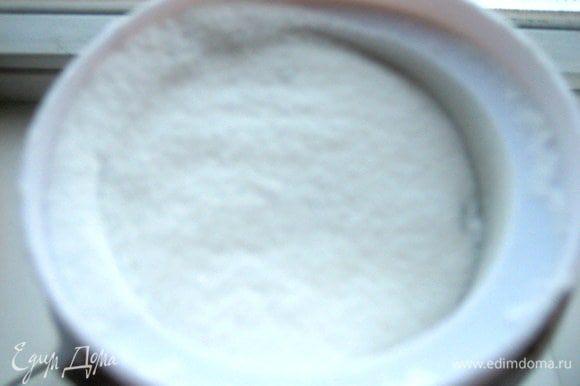 Сахарную пудру получаем на кофемолке.