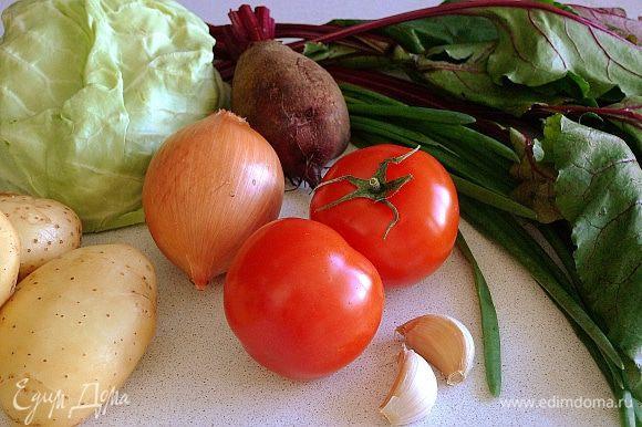 Все овощи моем, очищаем.