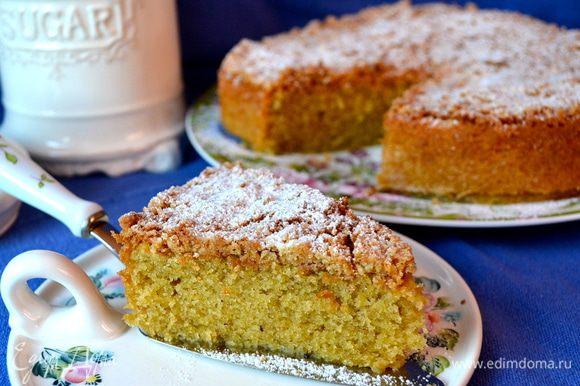 Нежный, мягкий, ароматный пирог с хрустящей корочкой сверху порадует Вас и Ваших близких на завтрак, или с чашечкой вечернего чая! ))))