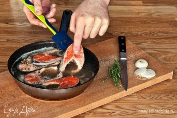 Готовую рыбу осторожно просушить на решетке и охладить.