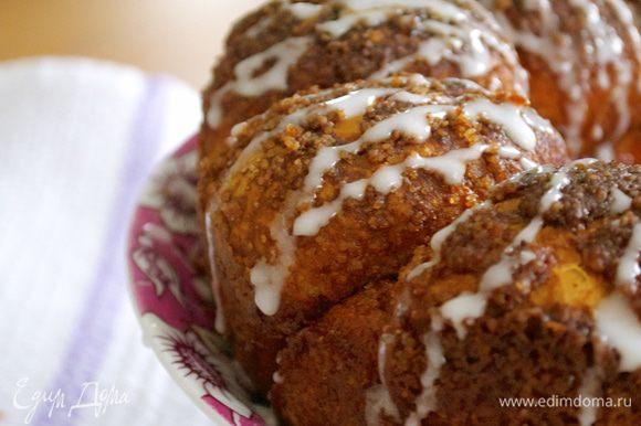 И произвольно покрыть хлеб сахарной глазурью!