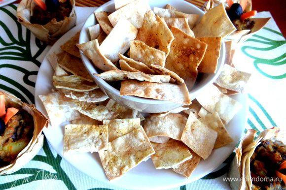 Из остатков лаваша делаем чипсы... http://www.edimdoma.ru/retsepty/65095-chipsy-iz-lavasha-k-postnomu-gribnomu-supchiku