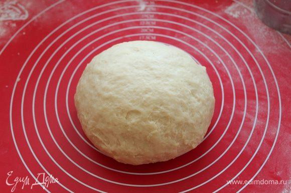 Замесить мягкое приятное тесто, отправить в теплое место.