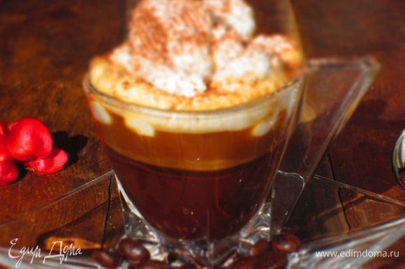 Посыпать какао и подавать. Приятного:))