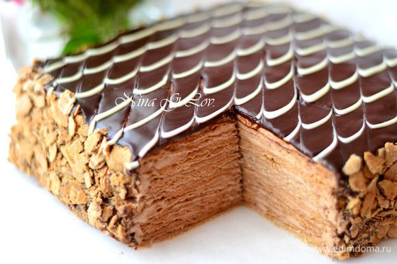 Получился очень вкусный, нежно-шоколадный! А на вид, как вафельный,правда?