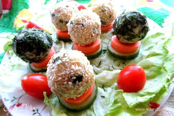Оставшиеся помидорки побросать рядом)))