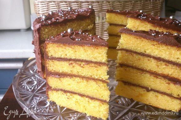Перед едой тортик желательно подержать 20-30 минут при комнатной температуре.