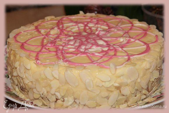Ну, а это торт, который так меня вдохновил! Это я сама пекла, фото в разрезе нет, но его можно увидеть в рецепте Даны. Будьте счастливы!