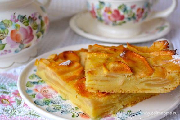 Перед подачей остудить пирог в холодильнике... Подавать к чаю или кофе. Идеальное завершение вкусной трапезы! )))