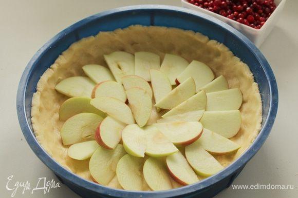 На дно выложите яблоки