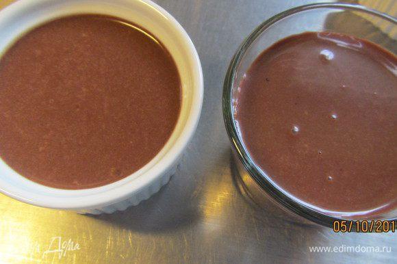 Разливаем крем по формочкам или небольшим креманкам (у меня получилось 2 порции). Ставим в холодильник до подачи.
