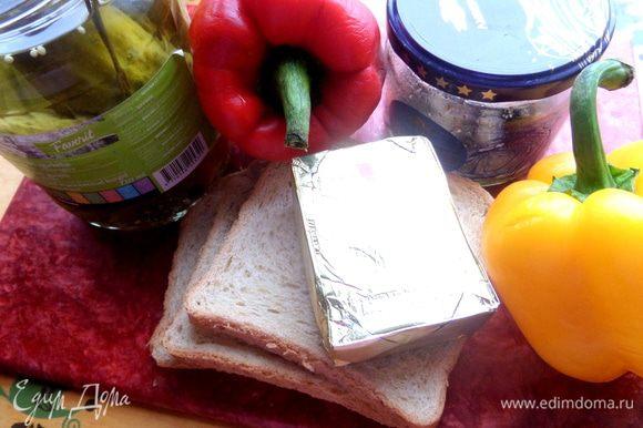 Нужные продукты. У меня плавленный сыр,но можно любой мягкий сыр или просто масло.