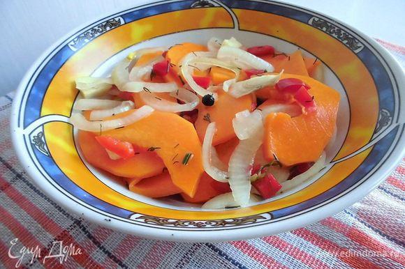 А еще я очень рекомендую приготовить маринованную тыкву от Ярославы http://www.edimdoma.ru/retsepty/60281-tykva-marinovannaya. Это очень вкусная закуска! В меру острая, ароматная и такая необычная. Я делала ее уже 3 раза!