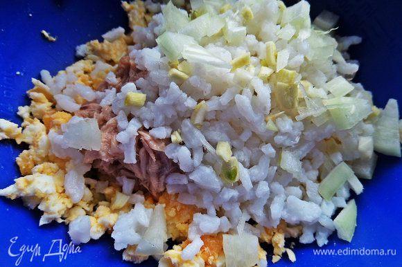 Добавим отваренный рис.