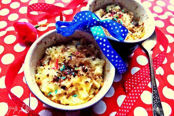 Подаём на завтрак, полдник или просто на десерт вкусный ароматный пудинг!