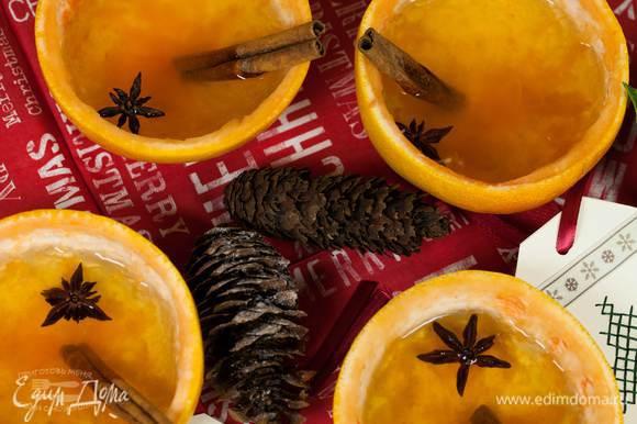 Подавать можно в чашечках, сделанных из грейпфрута.
