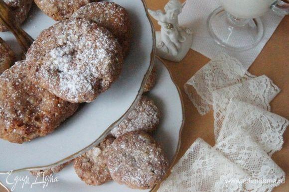 Очень вкусно такое печенье кушать с молоком! Получился очень полезный полдник.