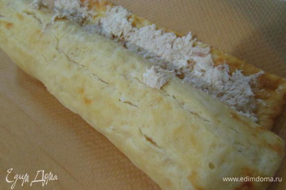Сырный рулет с курицей рецепт с фото