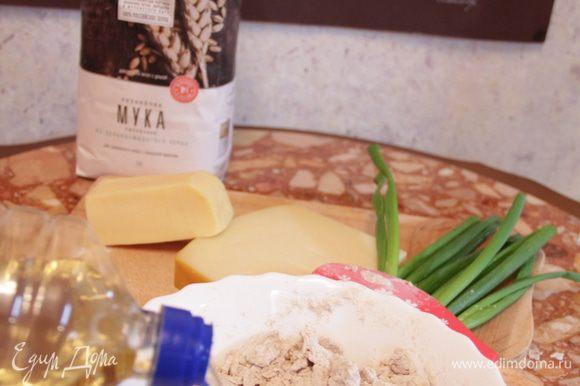 Влить растительное масло и замесить тесто.