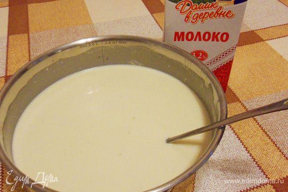 Тесто получится однородное, не густое. Если тесто получилось густоватое, добавьте немного минеральной воды.