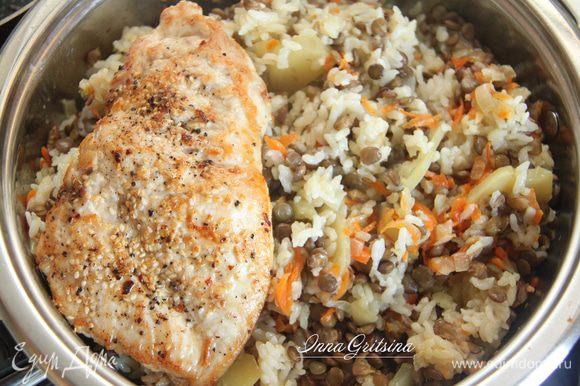 Можно добавить что-нибудь мясное, например, куриную отбивную: https://www.edimdoma.ru/retsepty/95686-kurinaya-otbivnaya-kotleta Приятного аппетита!