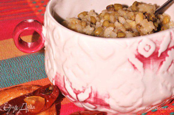 Можно в кашу добавить вяленые помидоры, это уже дело вкуса. Приятного аппетита!