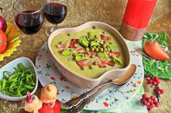 Подаем в горячем или теплом виде на обед или ужин сытный супчик.